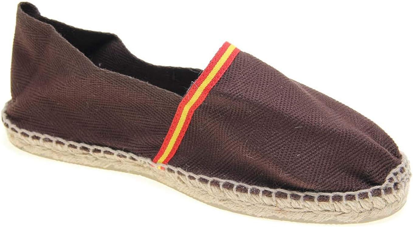 Alpargata Piso Yute y Tejido Lona Espiga Bandera ESPAÑA Made IN Spain Cosido A Mano: Amazon.es: Zapatos y complementos