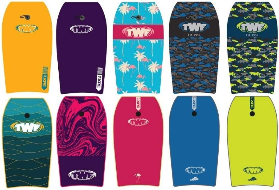 TWF XPE Pro 37 Slickback Bodyboard with leash 5 colour options