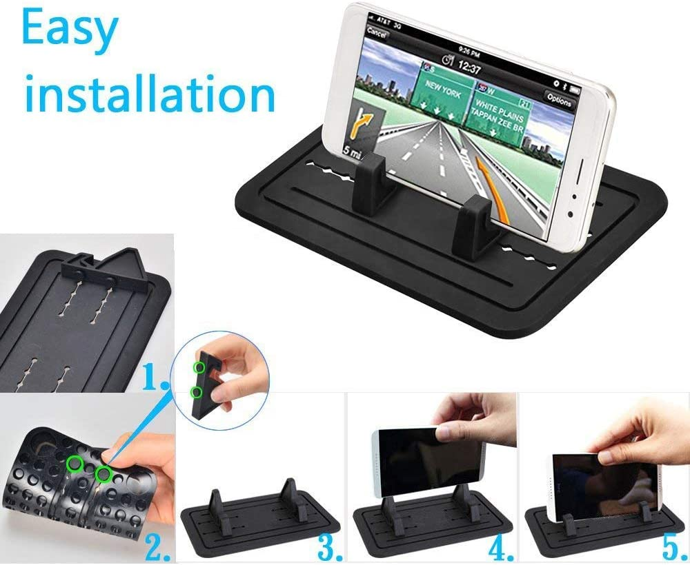 Anti-Slip Car Phone Dashboard Mat Bitsogoom Hands-Free Silicone Cell Phone Holder Pad for Car//Home//Office Compatible with iPhone X XR XS MAX Samsung Galaxy S10 Bitsogoom 8 Plus,7 Plus
