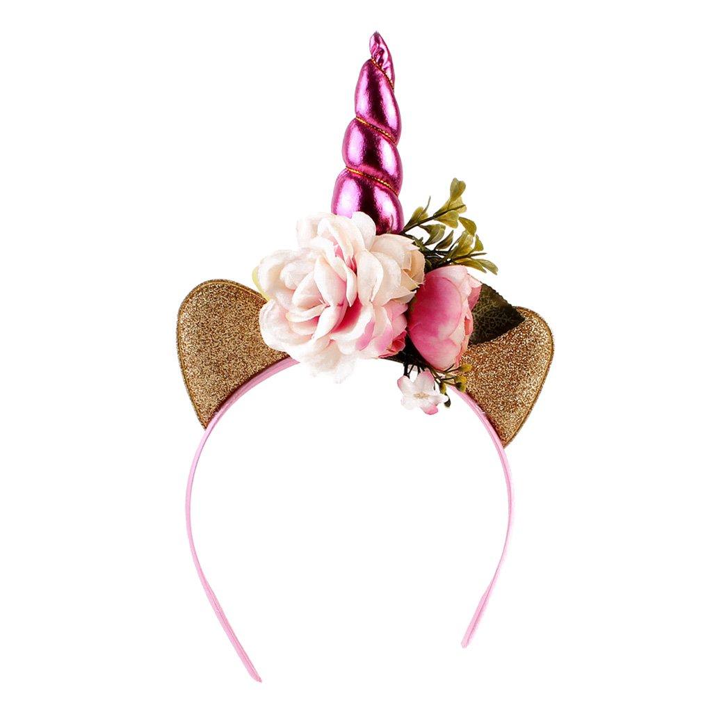 Kids Magical Unicorn Horn Hair Headband Fancy Dress Cosplay Party Decor Costume