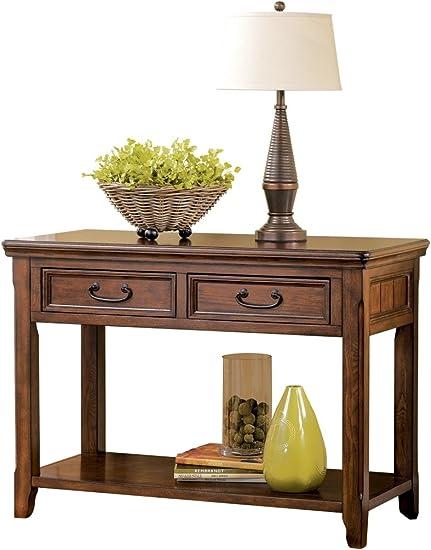 Signature Design by Ashley Woodboro Sofa Table Dark Brown Finish