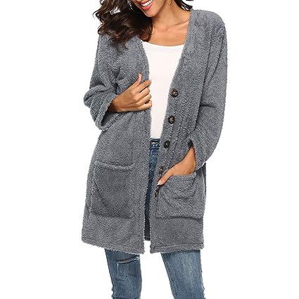 FuweiEncore Abrigo de Mujer Chaqueta de Abrigo Chaqueta de Parka Prendas de Abrigo Casual Chaqueta Casual