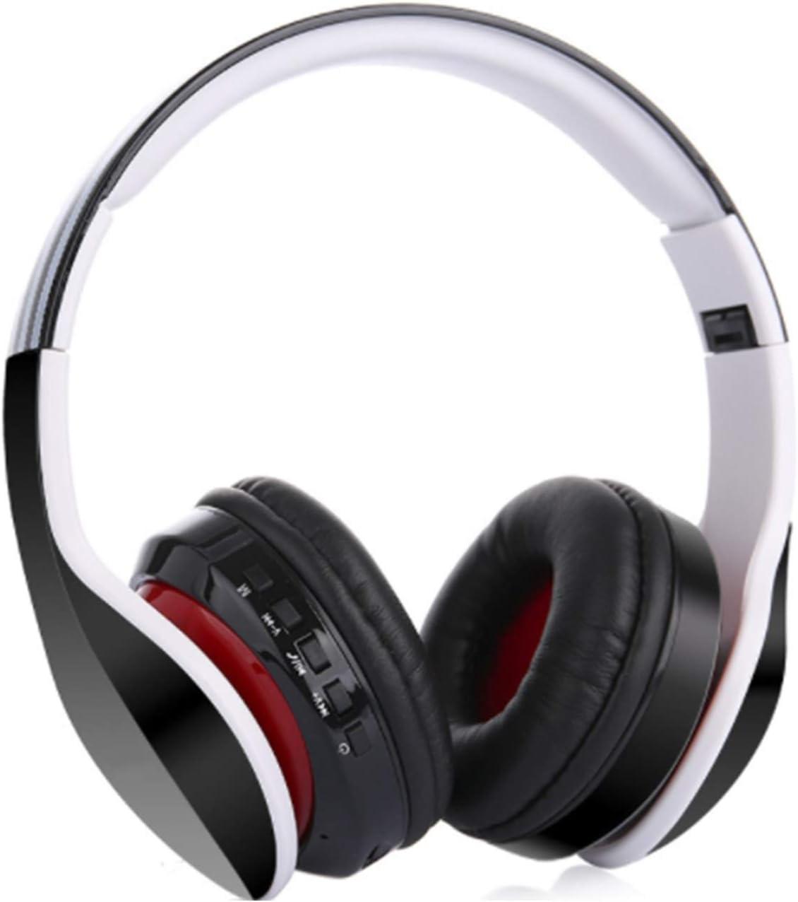 Color : Red Lifestyle Kopfh/örer Wireless Kopfh/örer Bluetooth Wireless Kopfh/örer Noise Cancelling Stereo Drahtlose Headset Over Ear mit Mikro Lautst/ärkeregler f/ür alle Ger/äte