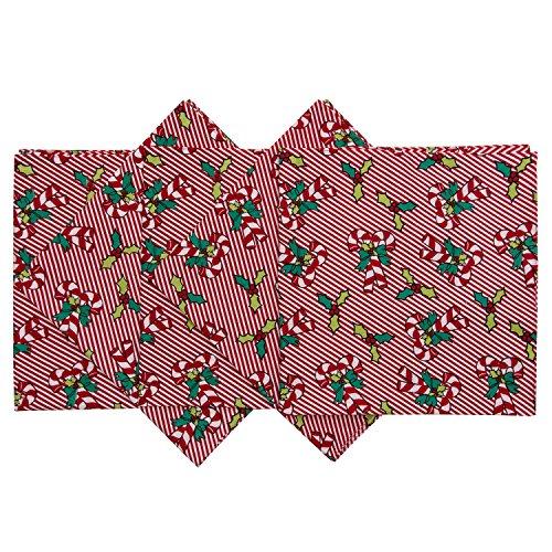 Original Elephant Brand Bandanas 100% Cotton Since 1898 - 5 Pack (Christmas Candy Cane) (How Candy Canes Are Made)