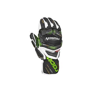 86229ec332408 Reusch Race Tec 18 GS Mitten - Black/White/neon Green: Amazon.de ...