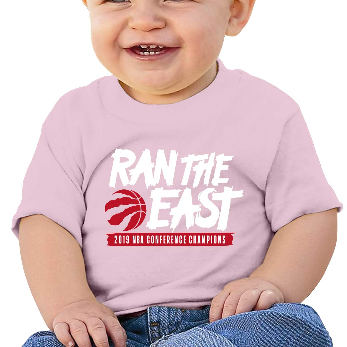 Ran The East Toronto-Raptors Toddler Short-Sleeve Tee for Boy Girl Infant Kids T-Shirt On Newborn 6-18 Months Black