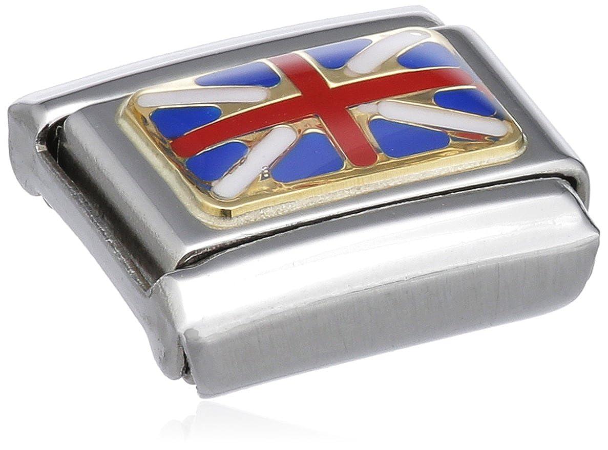 Maillon pour bracelet composable Nomination 030234 Acier inoxydable et Or jaune 18 cts Femme