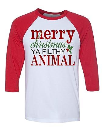 60a6e6dca Merry Christmas Ya Filthy Animal Home Alone Matching Family Shirts    Amazon.com