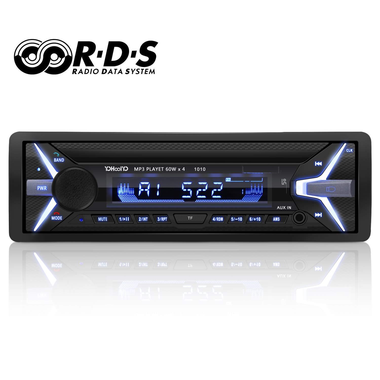 YOHOOLYO Autoradio Bluetooth Auto Stereo Audio Ricevitore In-Dash Radio RDS FM MP3 Player Aux SD Card USB con Telecomando Onmi shop
