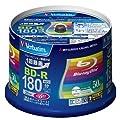 50 Verbatim Blu Ray 25 Gb Bd-r Single Layer 6x Speed Original Spindle Printable Blueray from Verbatim