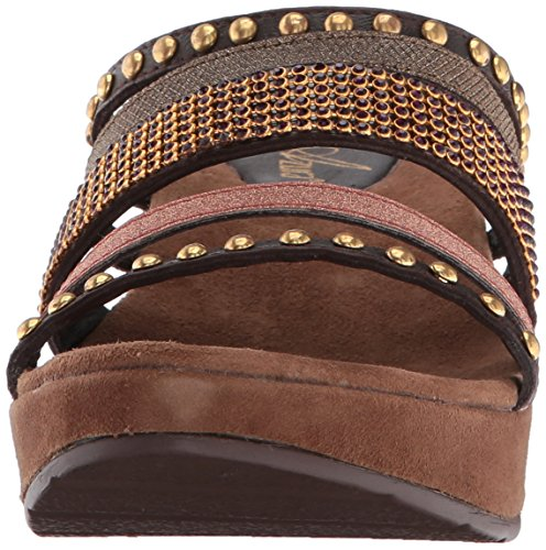 Wedge Oletha Spring Women Step Sandal Multi Brown nq6WPT0ZW