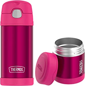 Thermos Funtainer Lunch Set 12oz Water Bottle & 10oz Food Jar Pink