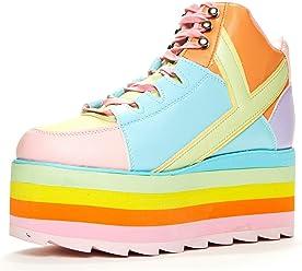 8f119bfb7746 YRU Qozmo Pastel Rainbow Platform Sneaker