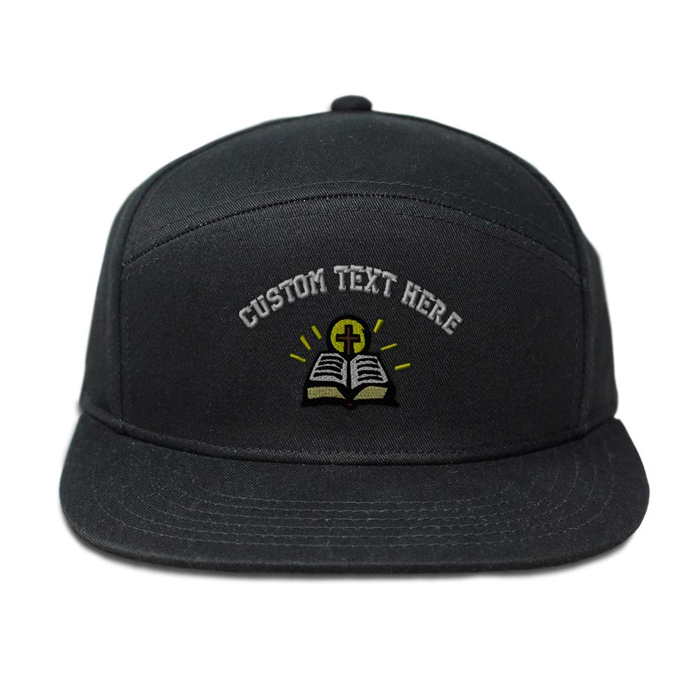 Custom Snapback Hats for Men /& Women Holy Bibble and Cross Embroidery Cotton