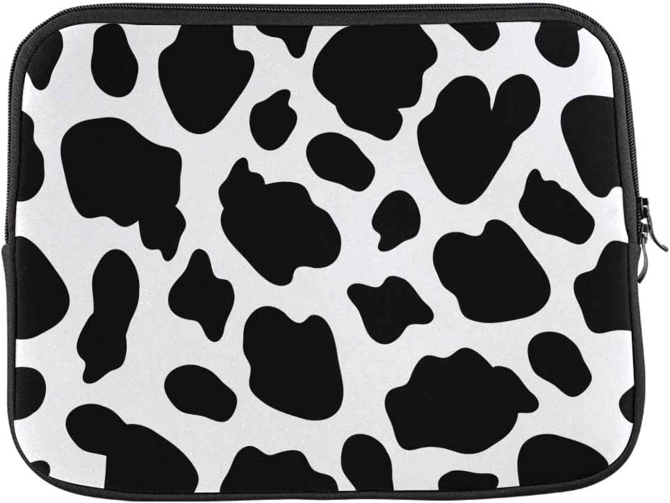Cow Print Black and White Laptop Sleeve Case 14 Inch Briefcase Cover Protective Notebook Laptop Bag