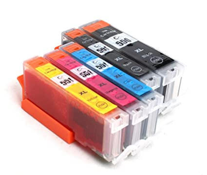5x Compatible tinta cartuchos reemplazo for CANON PGI-550 XL / CLI-551 XL con CANON Pixma iX6850 iP7250 iP8750 MG5450 MG5550 MG6350 MG6450 MG7150 ...