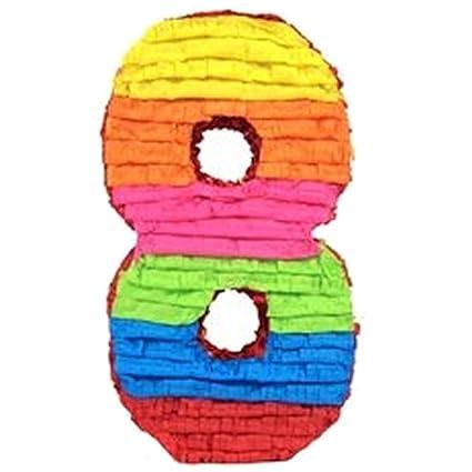 Amazon.com: Piñata, diseño de cumpleaños número 8: Toys & Games
