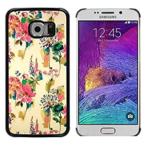 Paccase / SLIM PC / Aliminium Casa Carcasa Funda Case Cover - Flowers Wallpaper Vintage Paint - Samsung Galaxy S6 EDGE SM-G925