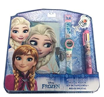 Set reloj digital + boligrafo 6 colores + diario de Frozen (24/48): Amazon.es: Juguetes y juegos