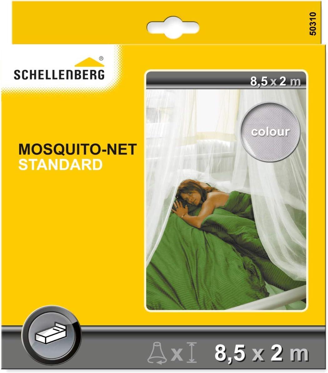2x8,5m blanc Schellenberg 50310 Standard Moustiquaire Pour Lits dune Personne