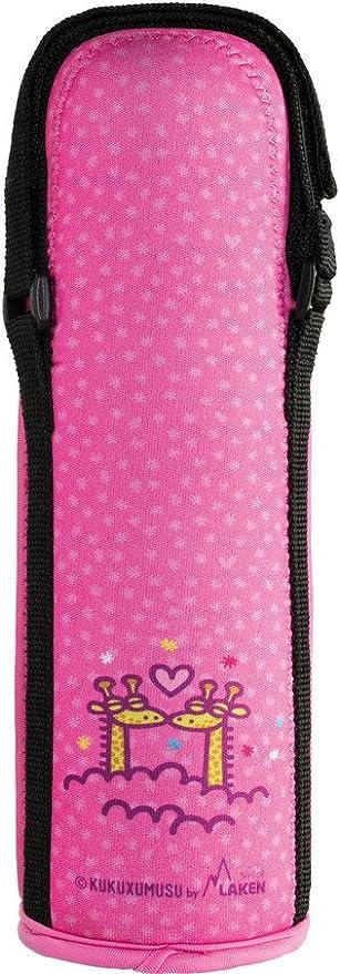 Kukuxumusu Termo Infantil para Líquidos de Acero Inoxidable 0,5L con Funda de Neopreno Rosa y boca ancha con Tapón-Vaso: Amazon.es: Bebé