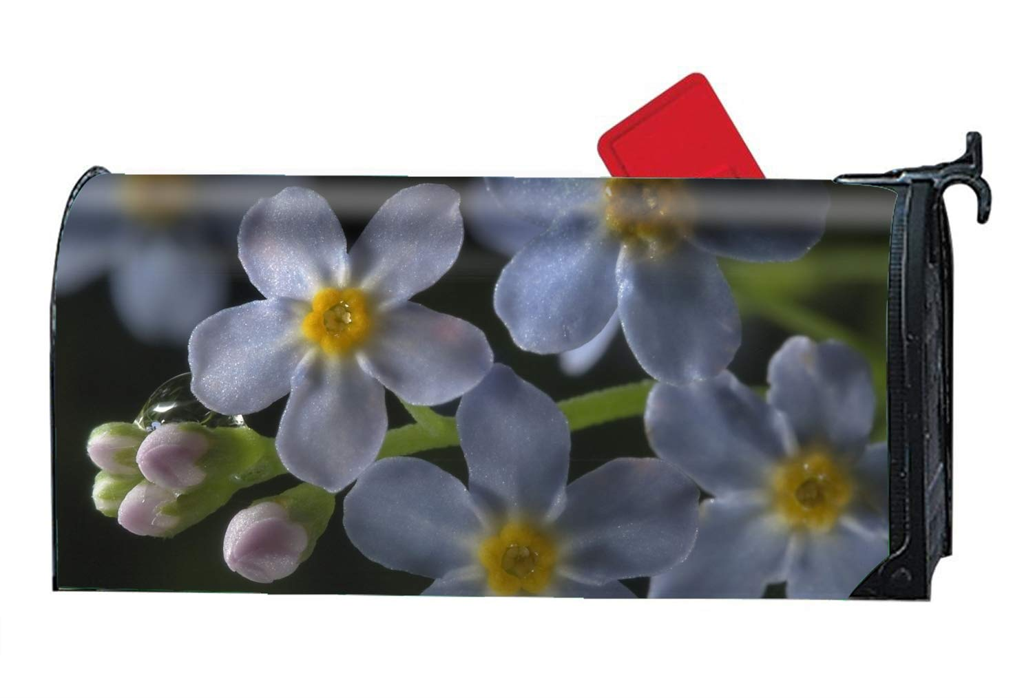 KSLIDS Earth Blossom Flowers Personalized Mailbox Cover Magnetic Spring Summer Fall Winter for Standard Mailboxes