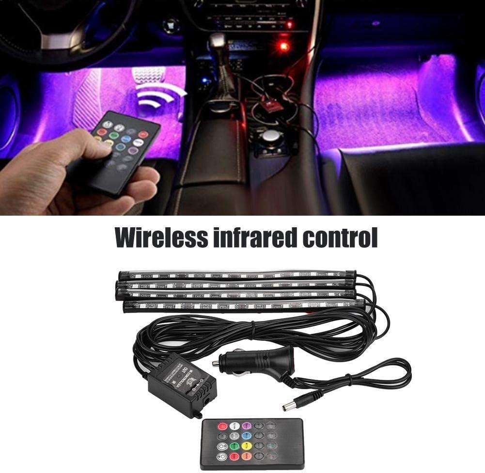 Luci per auto a LED per auto con luci LED multicolor LED Car Interior Lighting Atmosphere Kit EBTOOLS 12V Lampade a LED