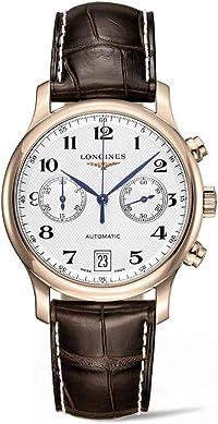 Longines Master Collection L26698783 シルバーダイヤル 18kt ローズゴールド ブラウンレザー メンズ 腕時計