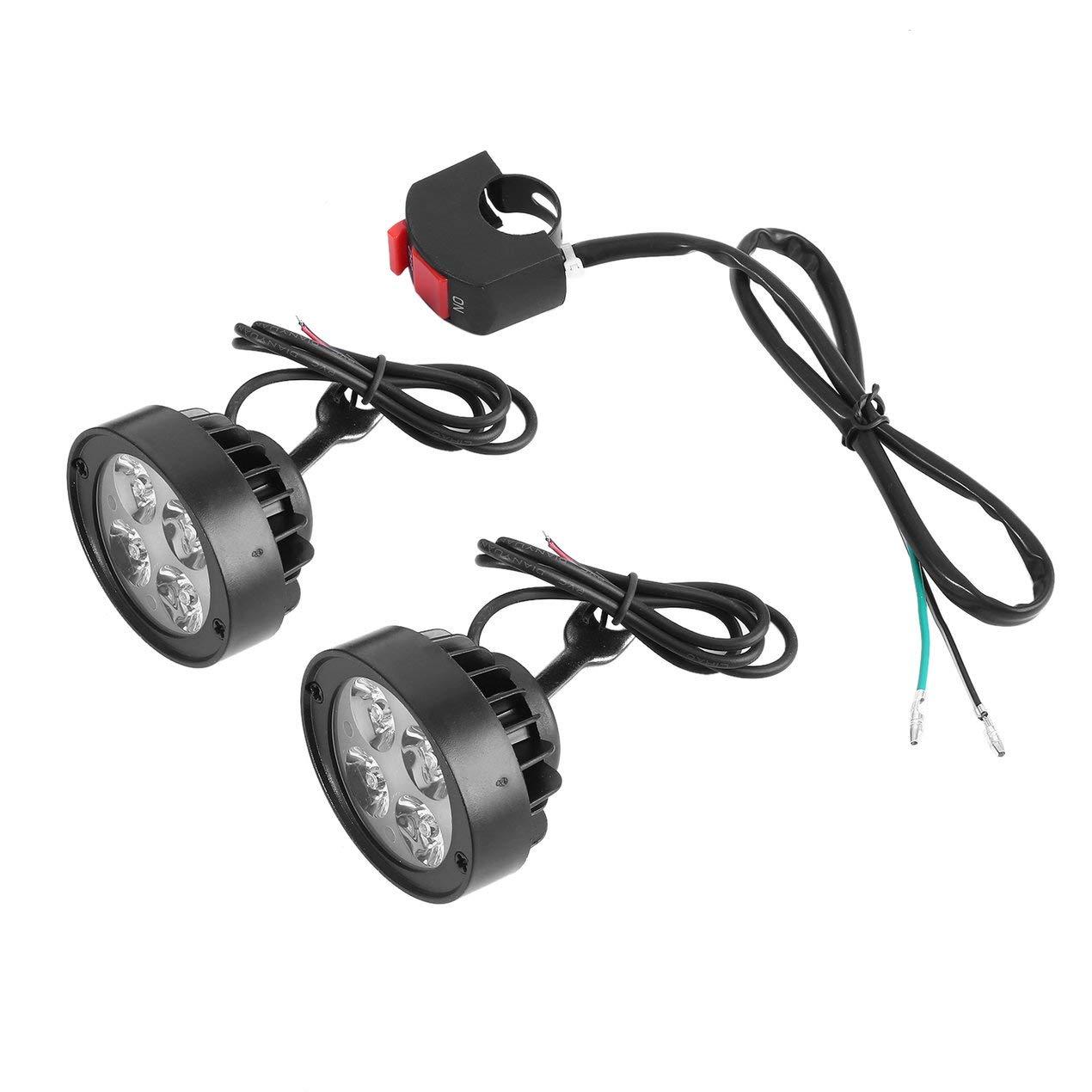 Super Clear 1000Lm llevó la Linterna de la Motocicleta de la lámpara del proyector de la Niebla Scooters Locomotora Super Light Assist Espejo retrovisor Luz Dooret