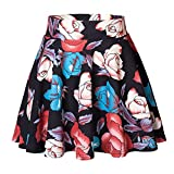 Urban CoCo Women's Basic Versatile Stretchy Flared Casual Mini Skater Skirt (L, 7)