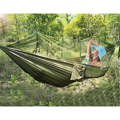 GREEN JUNGLE Mosquito Parachute Backpacking