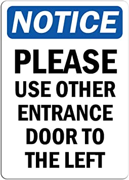 Sign Notice Employee Entrance Only Windows Wall Decal Sticker for Office Store