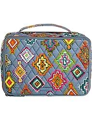 Vera Bradley Luggage Womens Large Blush & Brush Makeup Case Painted Medallions Cosmetic Bag