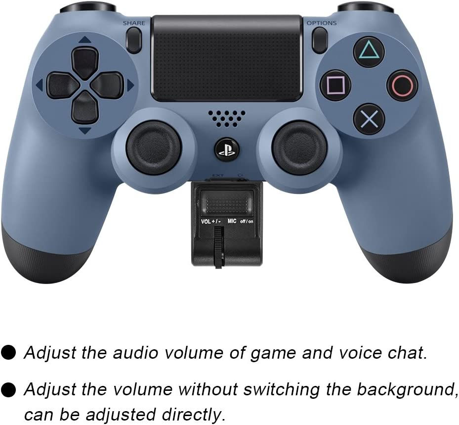 Headset Adapter Audio Volume Controller for PS4 VR Grip Game Accessories.