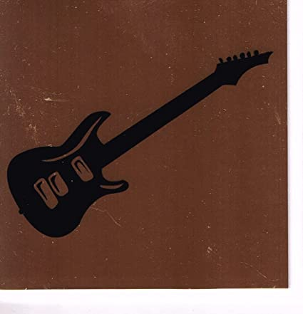 Guitarra eléctrica cuadrada de cobre tarjeta de regalo de música