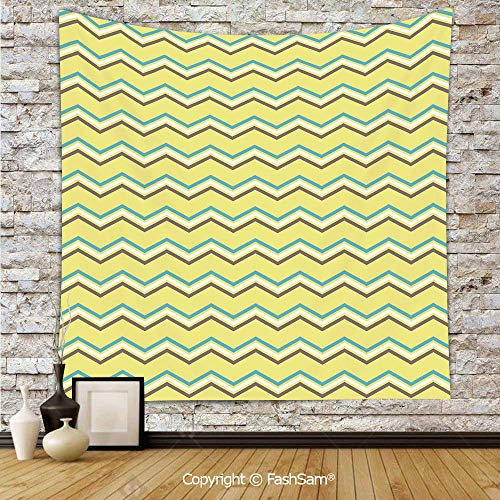 FashSam Tapestry Wall Blanket Wall Decor Zigzag Lines in Horizontal Direction Retro Style Display Home Decorations for Bedroom(W59xL78) ()