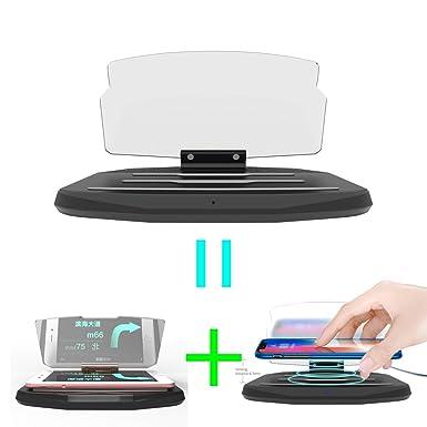 Amazon.com: Coche HUD soporte cargador inalámbrico ...
