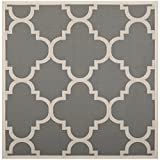 """Safavieh Courtyard Collection CY6243-246 Grey and Beige Indoor/ Outdoor Square Area Rug, 6 feet 7 inches Square (6'7"""" Square)"""
