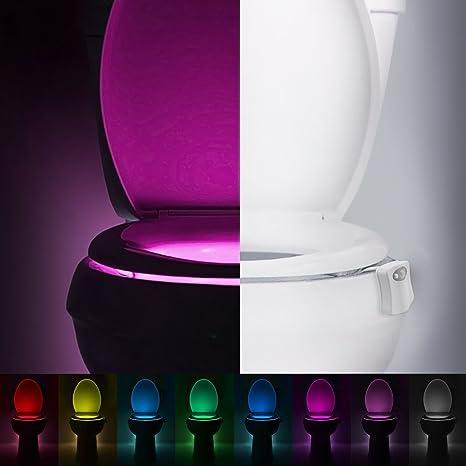 oglight activado por movimiento para inodoro colorido luz nocturna, el cuerpo auto Sensor de movimiento
