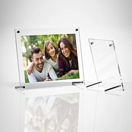 Clear Acrylic Free Standing Photo Frames (A4 Print) | Picture Frame ...