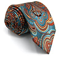 Shlax&Wing Geometric Multicolored Mens Ties Silk Necktie Wedding Patterned