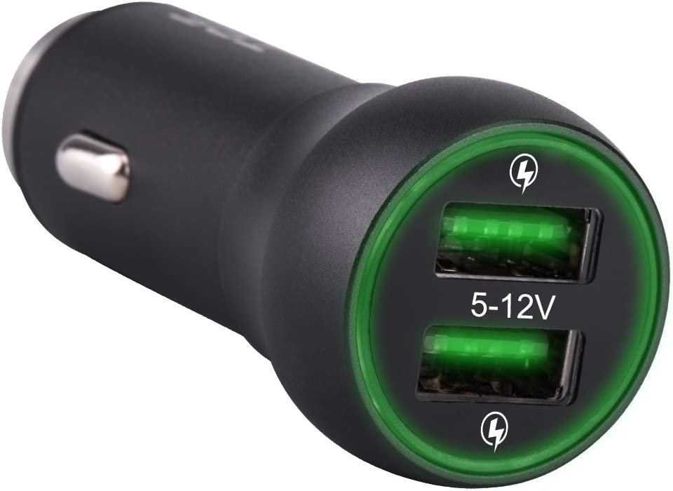 TPF Car Charger 48W Dual USB Quick Charge 3.0 All Metal Utra-Fast 2 USB Universal Charging Adapter for Samsung Galaxy s8//S7//S7 Edge//S6//Edge+,Nexus 6P//5X and More Black