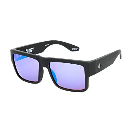d703bf6ad8 Image Unavailable. Image not available for. Color  Spy Optic Cyrus  Sunglasses Matte Black with Bronze Blue Spectra Lens Sticker