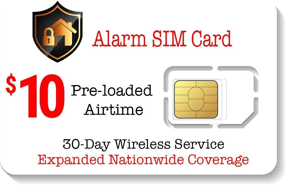 Alarm SIM Card for GSM Home/Business Security Alarm System - 30 Day Service