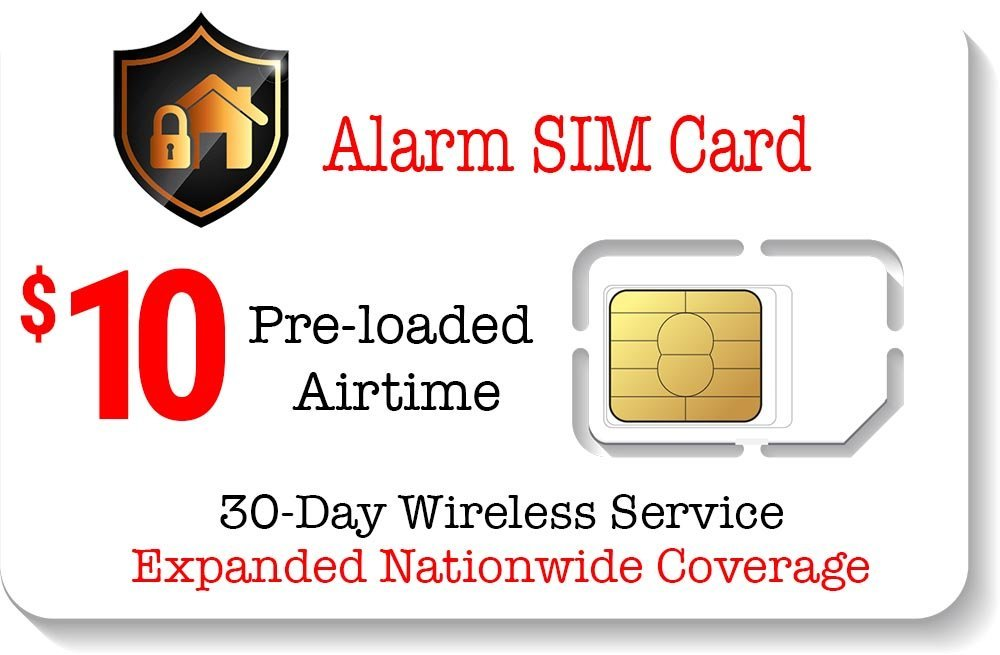 Amazon.com: $10 SIM prepago Alarma para GSM Seguridad para ...