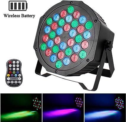 UKing Par Stage Lampada DMX512 Effetto luminoso 9 LED RGBW 4 in 1 con telecomando per discoteca Festa di nozze Festival Bar Scene Club