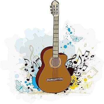 Pegatina de pared Dormitorio de adolescentes de música Guitarra ...
