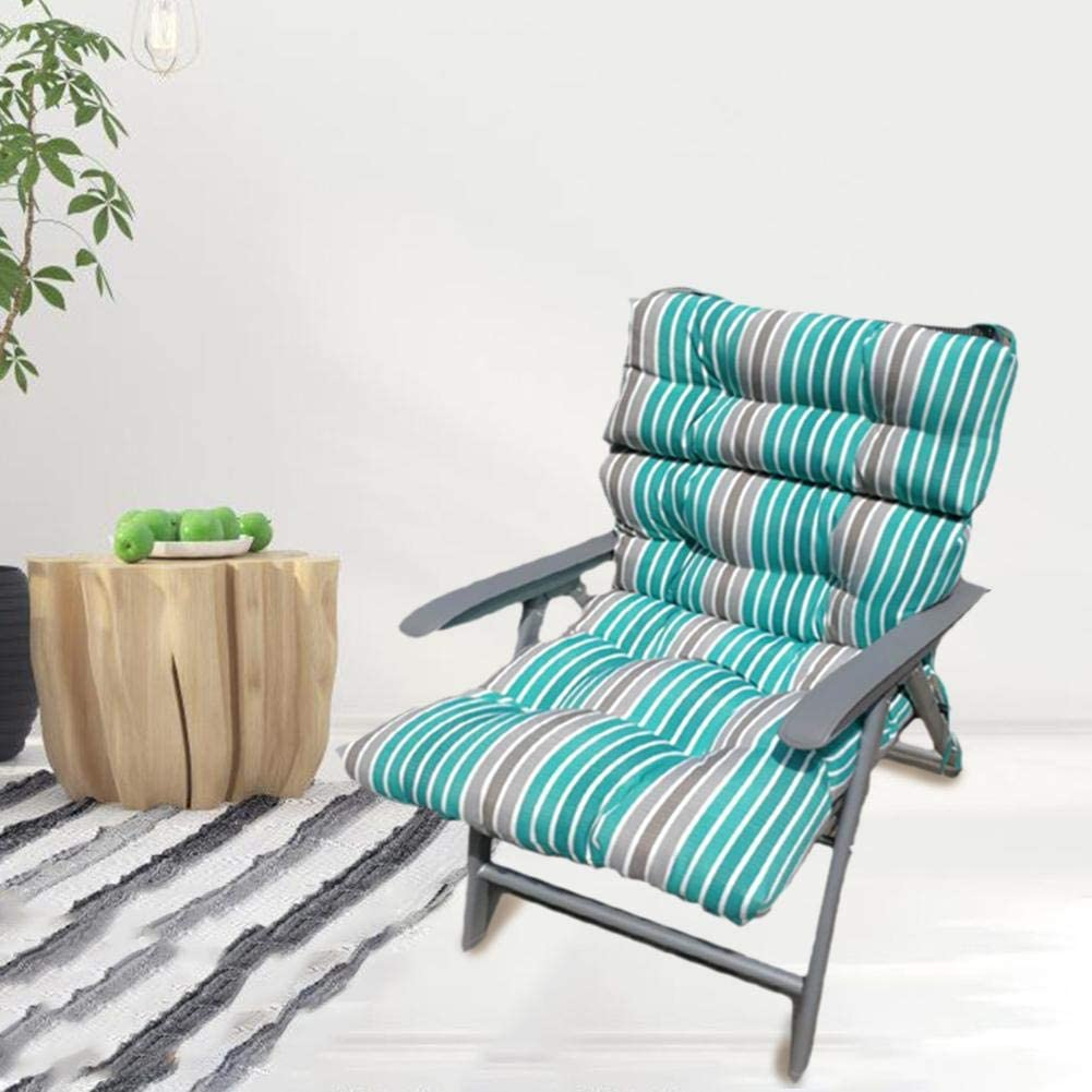 Indoor Outdoor Benches Lounge Cushions 120x50x10cm NAKELUCY Cotton Sun Lounger Chair Cushions Non-slip Cover Replacement Mattress For Patio Garden Outdoor Courtyard Recliner