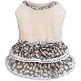Howstar Pet Dress, Puppy Elegant Lovely Clothes Outfit Party Floral Lace Skirt Soft Warm Sweater