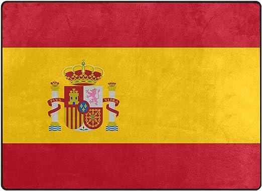 DEZIRO - Felpudo antideslizante con la bandera de España, poliéster, 1, 80 x 58 inch: Amazon.es: Hogar
